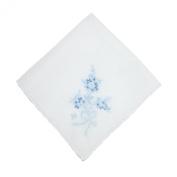 CTM® Womens Cotton Fresh Cut Bouquet Print Handkerchief, Blue