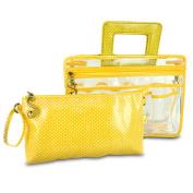 Switch it by Nan 228463 Switch It Large Handbag Organiser -Yellow Polka Dot