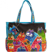 Laurel Burch Whiskered Family Oversized Tote