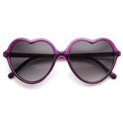 Lovely Heart Shaped Translucent Frame Womens Sunglasses