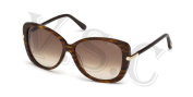 Tom Ford Linda Tf324 Sunglasses Ft 324 Butterfly Cat Eye Glasses 50f Dark Brown