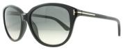 Tom Ford 0329S 01B Black Karmen Round Sunglasses Lens Category 2