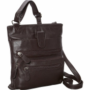 R & R Collections Front Zip Around Cross Body