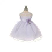 Kids Dream Little Girl's Sash Dot Sheer Easter Flower Toddler Girl Dress