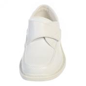 Little Boys White Velcro Matte Special Occasion Dress Shoes 3 Kids