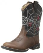 Roper Light Up Spiders Western Boot (Toddler/Little Kid),Brown/Black,10 M US Toddler