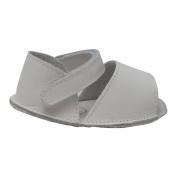 Angel Baby Girls White Open Toe Velcro Strap Crib Sandals 5 Toddler