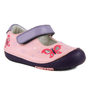 Momo Baby Girls Mary Jane Leather Shoes - Butterfly Pink
