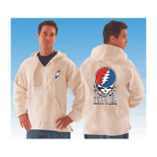 Grateful Dead Men's Steal Your Face Hooded Sweatshirt X-Large White