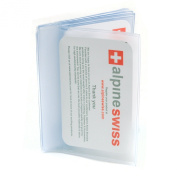 Alpine Swiss Plastic Wallet Inserts 6 page SET OF 2 Picture Holder Made in USA