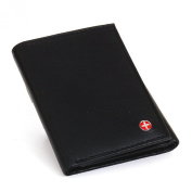 Alpine Swiss Men's Genuine Leather Trifold Wallet Black