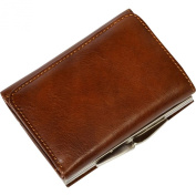 Tony Perotti Leather Ultimo Tri-fold with Framed Coin Pocket in Cognac