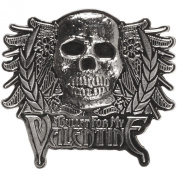 Bullet For My Valentine Men's Skull Crest Belt Buckle Silver