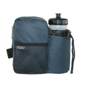 Everest Unisex Fabric with Sports Bottle Fanny Waist Pack, Navy