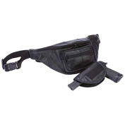 LUWBGNXL Embassy 50cm Solid Genuine Leather Concealed Carry Waist Bag