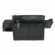 CTM Unisex Leather Mini Fanny Waist Pack