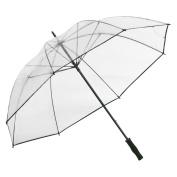 Clear Golf Umbrella, Black Trim