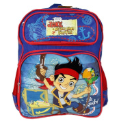 Medium Backpack - Jake Neverland Pirates - Blue/Red School Bag New 650896