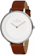 Skagen Women's Ditte SKW2214 Brown Leather Quartz Watch