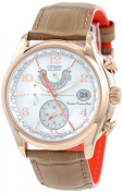 Citizen Women's Eco-Drive World Time A-t Camel Leather Strap Watch 39mm FC0003-18D