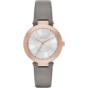 Dkny Women's Stanhope NY2296 Grey Leather Quartz Watch