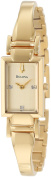 Bulova Women's 97P104 Goldtone Diamond-accented Watch