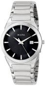 Bulova Men's 96B149 Stainless Steel Black Dress Watch