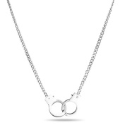 Bling Jewellery Secret Shades White Stainless Steel Handcuff Necklace