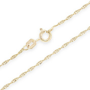 Bling Jewellery Gold Plated 20 Gauge Singapore Chain 925 Sterling Silver Italy