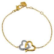 . Interlocking Crystal Hearts Match Bracelet 1062709