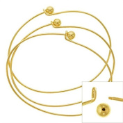 22K Gold Plated Wire Beading Bracelet With Ball - Add A Bead