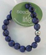 Seeds of Life Bracelet w Antique Silver World Bead Blue Whitney Howard Designs