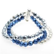 Ashley Multi-Strand Bracelet (Blue/Silver) - Exclusive Beadaholique Jewellery Kit
