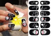 Nail Art Stickers Full Wrap Cartoon Panda Nail Sticker Tattoo - FashionLife