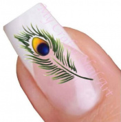 Peacock Feather Nail Art Water Decal / Tattoo / Sticker