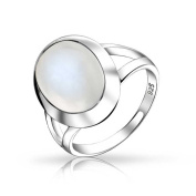Bling Jewellery Oval Simulated Moonstone Ring 925 Sterling Silver