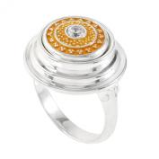 Kameleon Jewellery Sterling Silver 3 Tier Tabletop Ring KR20 Size 6
