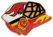 Calgary Flames Goalie Mask Pin