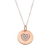 1/10 ct Diamond Heart Pendant in 14K Rose Gold