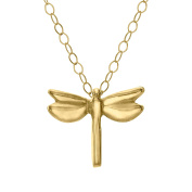Just Gold Teeny-Tiny Dragonfly Pendant in 10K Gold