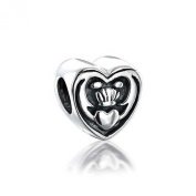 St Patricks Day Jewellery Celtic Friendship Claddagh Bead 925 Sterling Silver. Charms