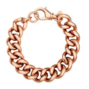 Curb Chain Bracelet in 18K Rose Gold Plate