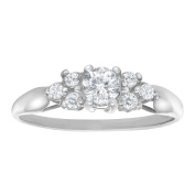 Ring with 1/3 ct Cubic Zirconia in 10K White Gold
