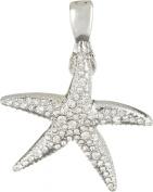 Wearable Art By Roman Crystal Starfish Pendants One Size Silver tone rhodium