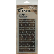 Tim Holtz Layered Stencil 4.1213cm X8.5in Bricked