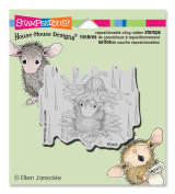 Stampendous House Mouse Cling Rubber Stamp, 8.9cm x 10cm Sheet, Rain Flower