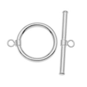 Sterling Silver Sleek Wrap Toggle Clasp 15mm