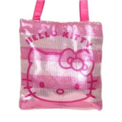 Hand Bag - Hello Kitty - Sequin Striped Pink New Purse Bag 674998