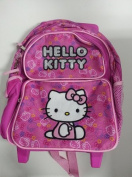 Small Rolling Backpack - Hello Kitty - Colour Faces New School Bag 828421