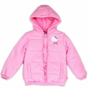 Hello Kitty Toddler Girl's Shimmer Pink Puffer Hooded Winter Jacket Sz. 2T